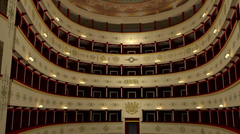 Rendering Antico Teatro La fenice di Senigallia